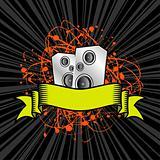 grunge speaker scroll