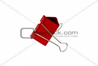 Binder clip isolated on white