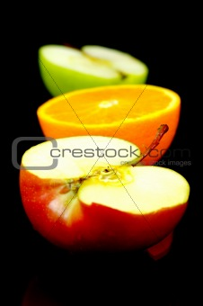 Apple & Orange Halves