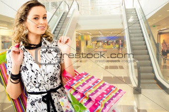 Woman in the shopping mall