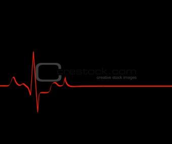 flat lining heart rhythm