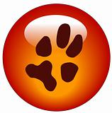 pawprint web button