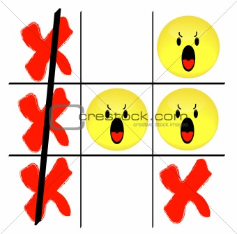 smiley face tic tac toe game