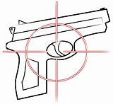 gun with cross hair target