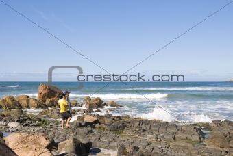 Adult Couple in the Coastline
