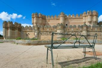 Castle Coca in province of Segovia