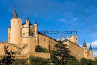 Given the Alcazar in Segovia (Spain)
