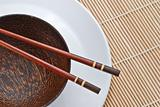 Wooden bowl with chopsticks 1