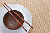 Wooden bowl with chopsticks 2