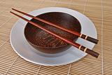 Wooden bowl with chopsticks 8