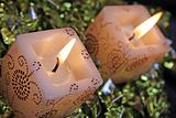 Burning cinnamon candles