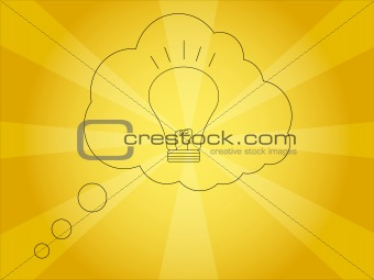 Bright Idea Vector Illustration