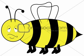 annoyed bee cartoon