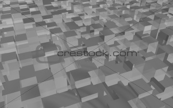 gray-cube-background
