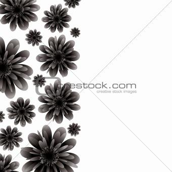 floral banner black