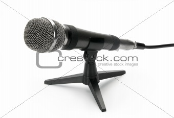 Microphone, isolated on white background.