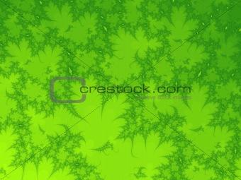 green leafs fractal