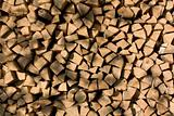Woodpile background yellow
