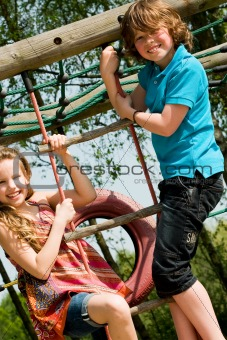 Climbing on the playgroung