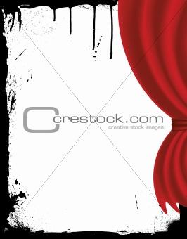 beauty curtain in grunge