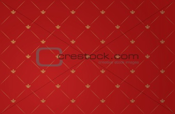 Vector illustration of red vintage wallpaper