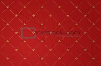 Vector illustration of red vintage wallpaper