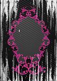Vector illustration of black grunge frame