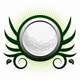 Golf ball winged icon