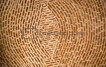 Adobe Brick Wall Concentric Circles Mexico