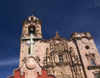 Cross Bell Steeple Valencia Church Guanajuato Mexico