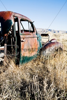 abandoned car rural Wyoming
