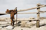 ranch - saddle on fence