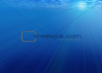 Background - rays of light under water