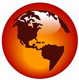 north and south america web button