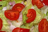 fresh washed mixed salad