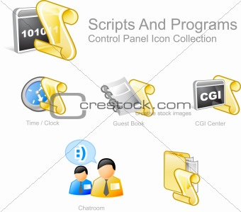 SCRIPTS AND PROGRAMS ICONS