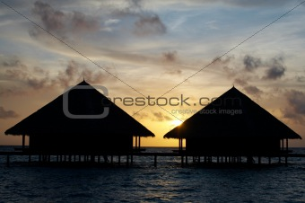 Two Water Villas in The Ocean. Paradise!