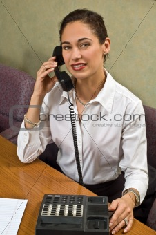 Attractive woman on the telephone