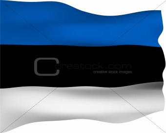 3D Flag of Estonia