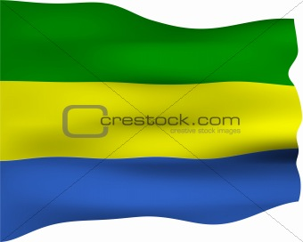 3D Flag of Gabon