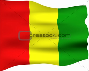 3D Flag of Guinea