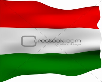 3D Flag of Hungary