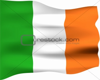 3D Flag of Ireland