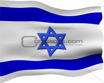3D Flag of Israel
