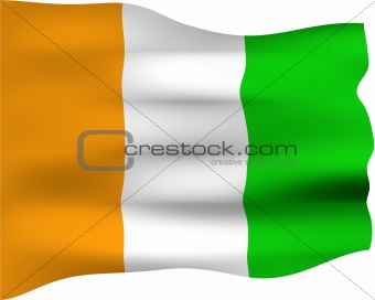 3D Flag of Ivory Coast
