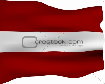3D Flag of Latvia
