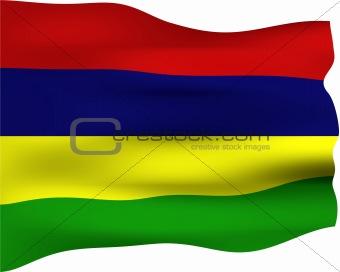 3D Flag of Mauritius