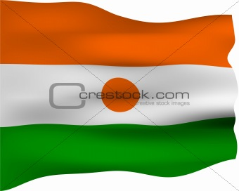 3D Flag of Niger
