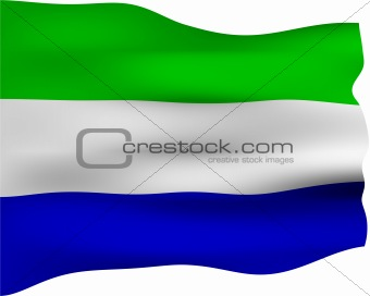 3D Flag of Sierra Leone
