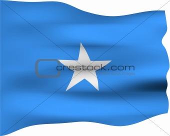 3D Flag of Somalia